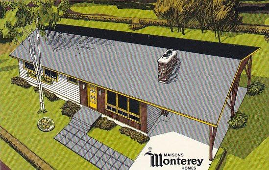 Canada Maisons Monterey Homes White House Aluminum Exterior Model Quebec