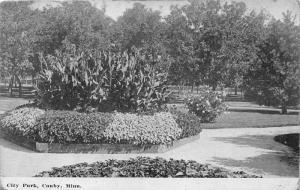 Canby Minneapolis~City Park~Flower Beds~c1910 B&W Postcard
