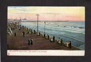 NJ Chair Parade on Boardwalk ATLANTIC CITY NEW JERSEY Postcard Tuck and Sons PC