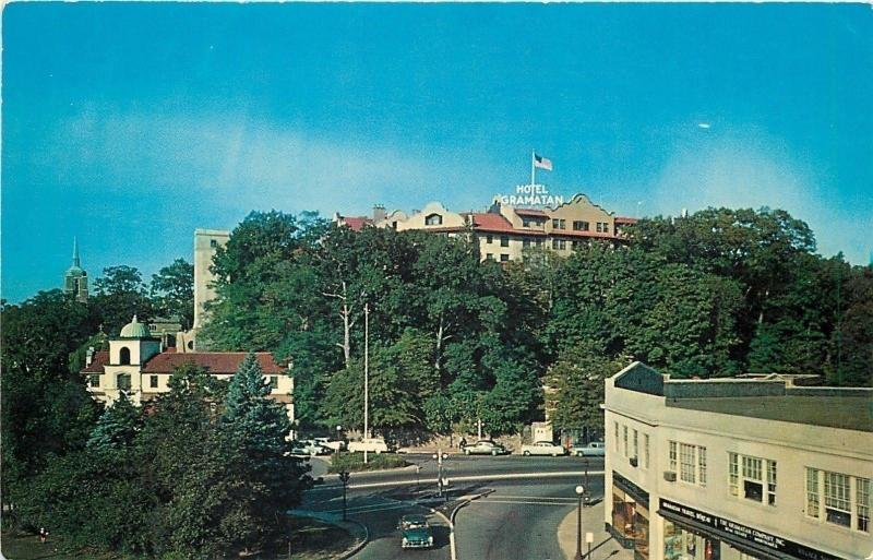 Bronxville Ny Travel Agency Church Below Hotel Gramatan Where Tom Stays 1950s