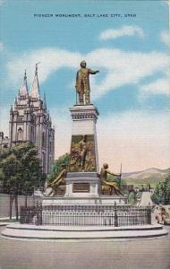 Pioneer Monument Salt Lake City Utah 1943