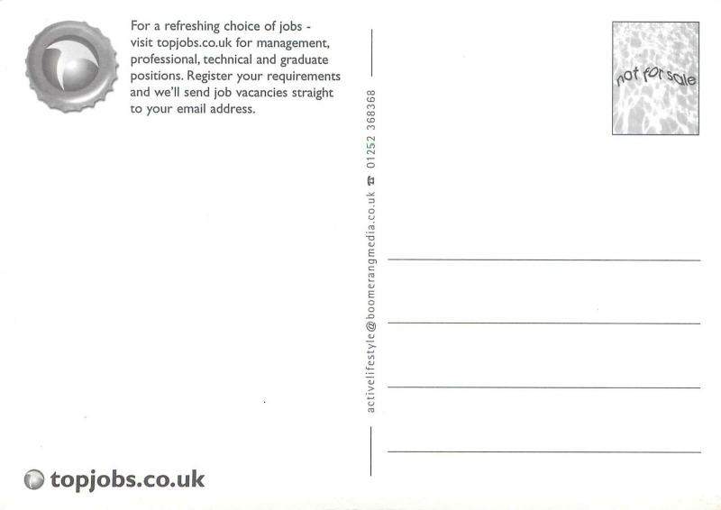 Top jobs probably the best recruitment website in the world advert postcard