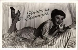 CPA BARBARA STANWIJCK. FILM STAR (600692)
