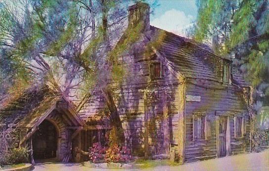 Florida Saint Augustine Oldest Wooden Schoolhouse 1976
