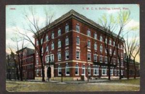 MA View of the YWCA Building in LOWELL MASS Massachusetts Postcard PC