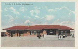 IOLA , Kansas, 1900-1910's; Santa Fe Railroad Train Station