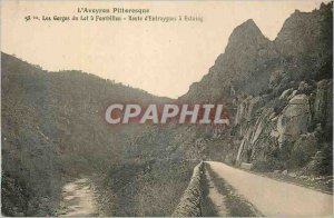 Postcard The Old Picturesque Aveyron Gorges du Lot has Fontbillou Highway Ent...