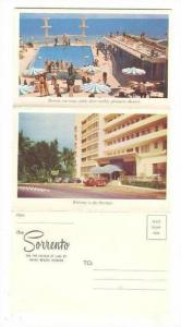 Folder postcard, SORRENTO Hotel, Miami Beach, Florida 1950s