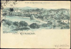 curacao, D.W.I., View on Quarantine-Station (1904)