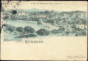 curacao, D.W.I., View on Quarantine-Station (1904)