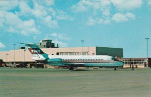 DAYTON , Ohio, 1950-60s ; TWA jet Airplane at airport