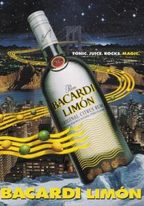 Advertising Alcohol Bacardi Limon Flavored Rum 1996