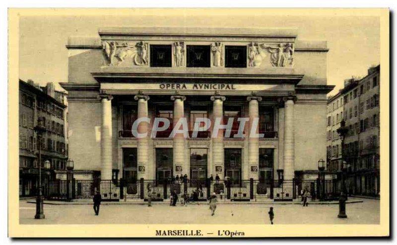 Marseille - The Opera - Old Postcard
