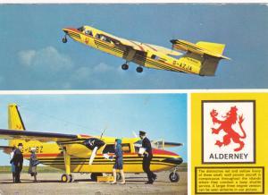 ALDERNEY , UK , Prop airplanes , 70-80s