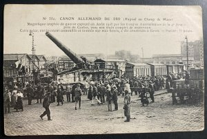 Mint France Real Picture Postcard RPPC German Canon Camp Mars Exhibition