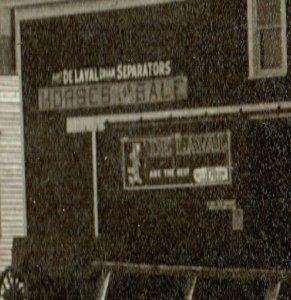 De Graff MINNESOTA RPPC 1912 MAIN STREET nr Benson Murdock Kerkhoven DE LAVAL AD