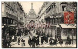 Old Postcard The Bank Paris Comptoir d & # 39Escompte and street Rougemont