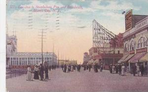 New Jersey Atlantic City Entrance To Steeplechase Pier And Boardwalk