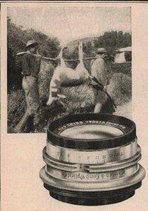 1907 Original Print Ad Hunters Caring Pig Bausch & Lomb-Zeiss 2P1-6