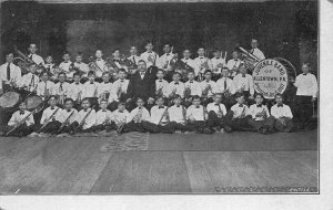 Allentown PA Juvenile Band Organized in 1907, Knittle Postcard