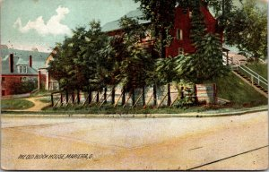 Marietta , Ohio - The Old Block House - Lean-To Posts - OH - POSTCARD - VINTAGE