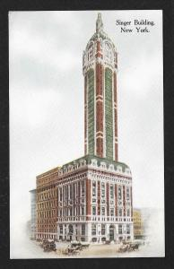 Singer Building New York NY unused c1910s