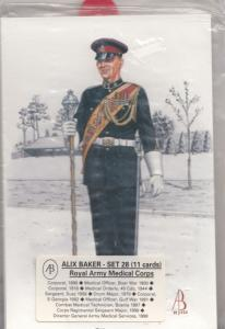 Royal Army Military Corps Uniform Military 11x Set Of Postcard s NEW SEALED