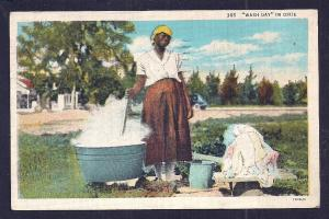 'Wash Day' in Dixie Black Woman Used c1936