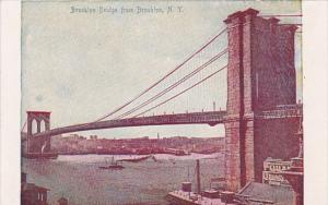 New York City The Brooklyn Bridge From Brooklyn