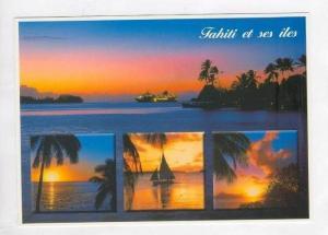Tahiti, 60-80s, 4-views with Ocean liner