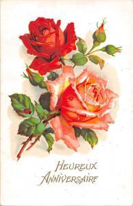 Heureux Anniversaire Roses, fantasy, birthday