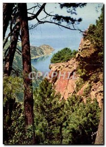 Postcard Modern Calanche Ravin supervises beautiful red rocks