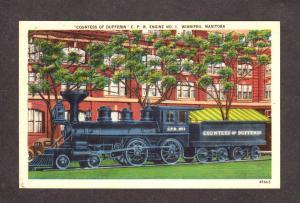 Canadian Pacific Railroad Train Railway Engine Winnepeg Manitoba Canada Postcard