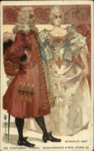 Monaire Renaissance Costume Smaller Size c1890s Postcard SEIGNEUR 1667