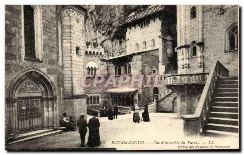 CPA Rocamadour Overall picture of the square