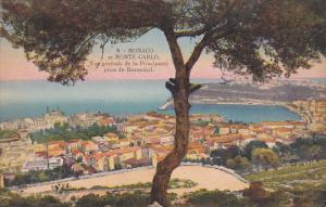 Monaco Monte Carlo Vue generale de la Principaute prise de Beausoleil
