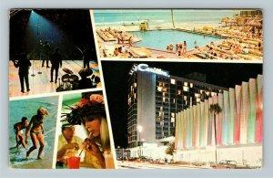 Miami FL- Florida, Carillon Luxury Hotel, Miami Beach, Chrome Postcard