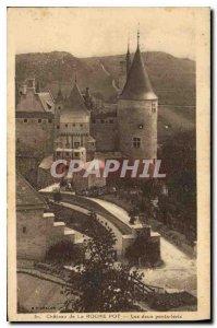 Old Postcard Chateau La Roche Pot Two drawbridges
