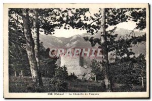Old Postcard Die Drome The Chapel Purgnon