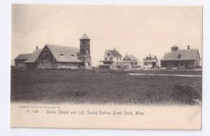 Union Chapel Life Saving Station Brant Rock Rotograph 1905