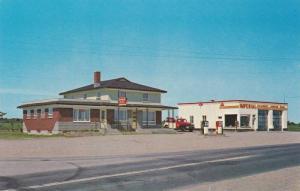 Exterior Street View of Restaurant Chez Paul, Garage & Station de Service Ess...