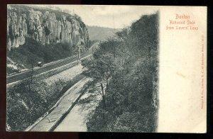 dc301 - BUXTON England 1903 Ashwood Dale Railway Tracks. Squared Circle
