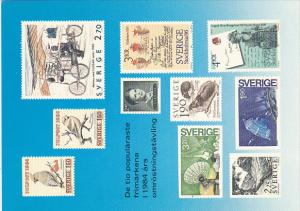 Stamps Of Sweden 1984 Issues