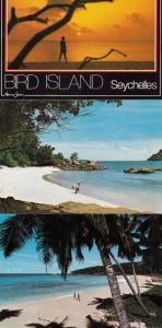 Bird Island Seychelles 3x Postcard s