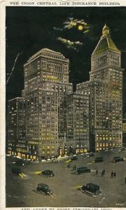 OH - Cincinnati, The Union Central Life Insurance Building & Annex By Night