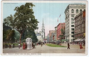 Boston, Mass, Tremont Street and The Mall