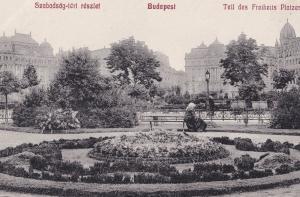 Budapest Hungary Szabadsdg Leri Reszlet Old Postcard