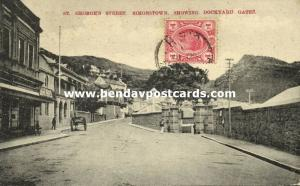south africa, SIMONSTOWN, George's Street showing Dockyard Gates (1911) Stamp