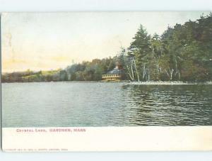 Pre-1907 LAKE SCENE Gardiner Massachusetts MA A1047