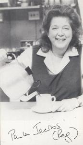Paula Jacobs as Peggy Sagar Albion Market Vintage Printed Signed Photo Cast Card